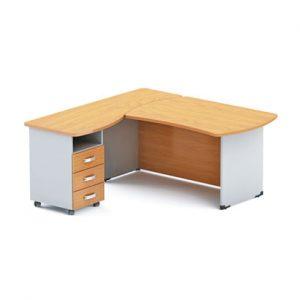 Стол офисный угловой DR купить в Бресте, Минске, РБ у БЕЛС (производитель мебели РБ)