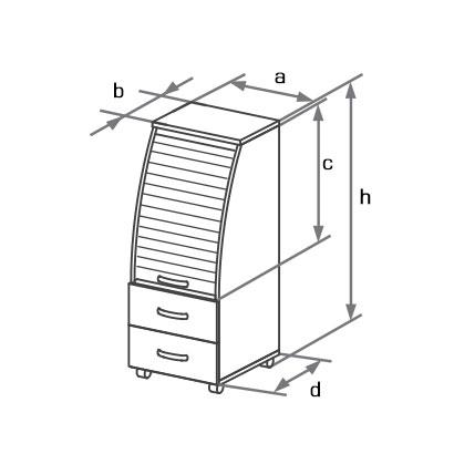 Тумба DCP-045 схема