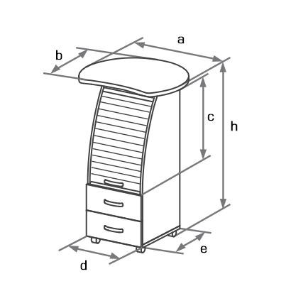 Тумба DCP-076 схема