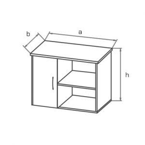 Тумба для оргтехники KON05 схема