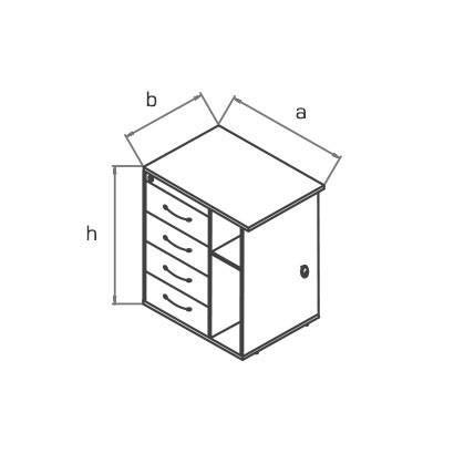Тумба приставная KOS01 схема