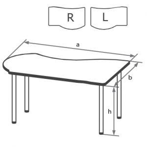 Стол офисный угловой DA схема