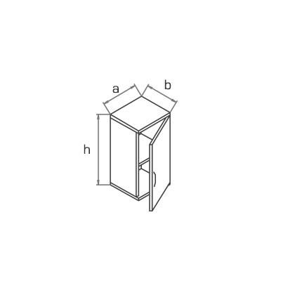 Антресоль к узкому шкафу A2W02 схема