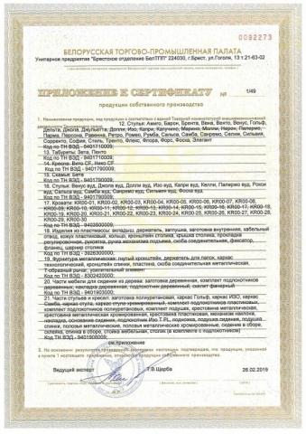 Сертификат продукции БЕЛС стр 3