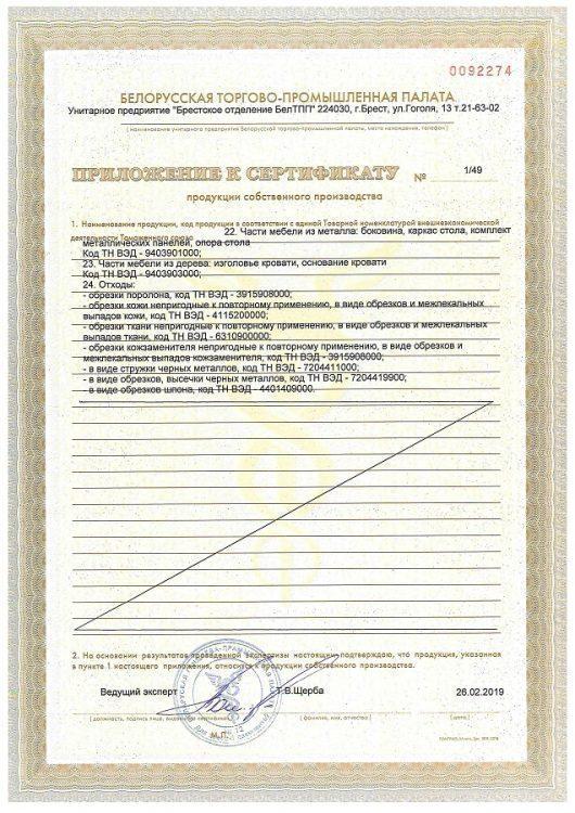 Сертификат продукции БЕЛС стр 4