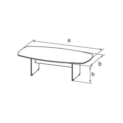 Конференц-стол MAD-250 схема