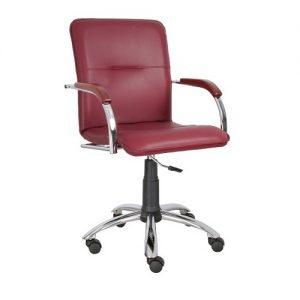 Кресло компьютерное Samba Chrome gtpCh2 1031* бордо купить в Бресте, Минске у производителя БЕЛС