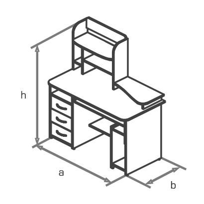 Стол компьютерный KS14-2 схема