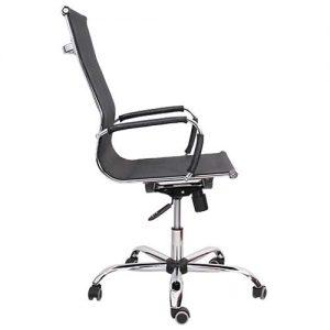 Кресло компьютерное Texas черный (вид сбоку) купить в Бресте, Минске, РБ у производителя мебели БЕЛС