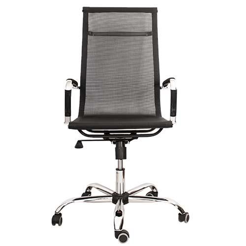 Кресло компьютерное Texas черный (вид спереди) купить в Бресте, Минске, РБ у производителя мебели БЕЛС