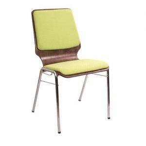 Барный стул Capri Chrome 1_031 салатовый_темный орех купить в Бресте, Минске у производителя мебели Белс